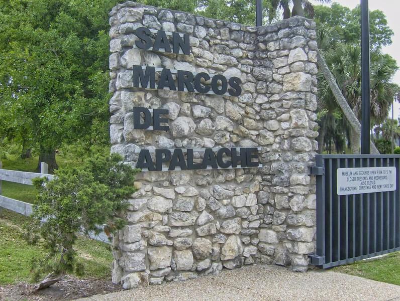 San Marcos de Apalache sign