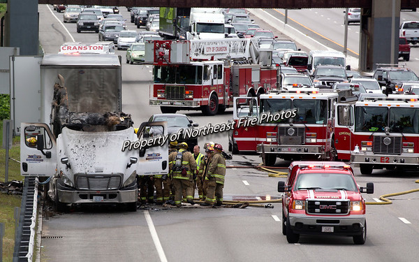 Cranston- Rt. 95 Tractor Trailer Fire-06/03/2017