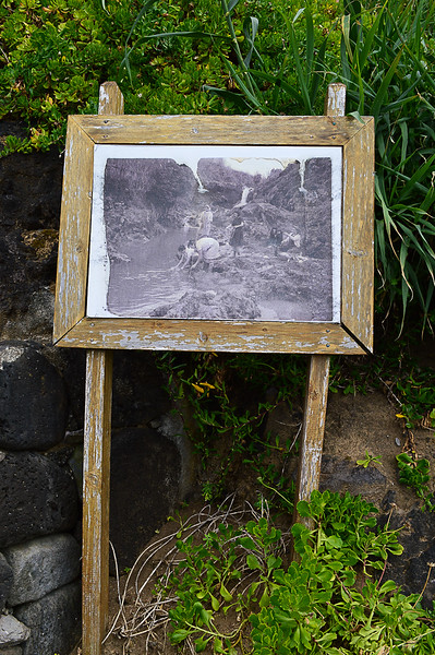 Old photos left along the route. Very interesting
