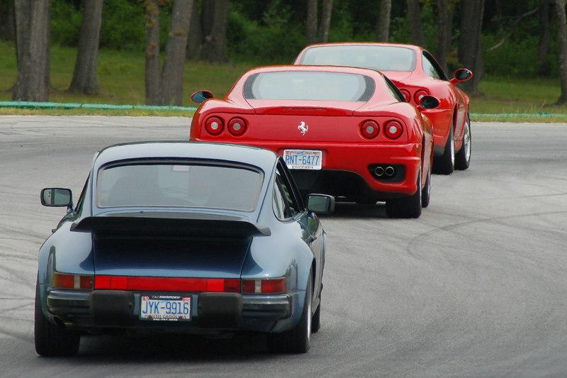 911 chasing the Ferraris