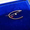 Victorian Diamond, Ruby, and Sapphire Wishbone Brooch 14