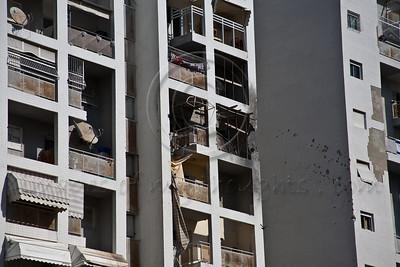 20121119 Damage to Ashdod apartment from Palestinian Gaza Grad rocket