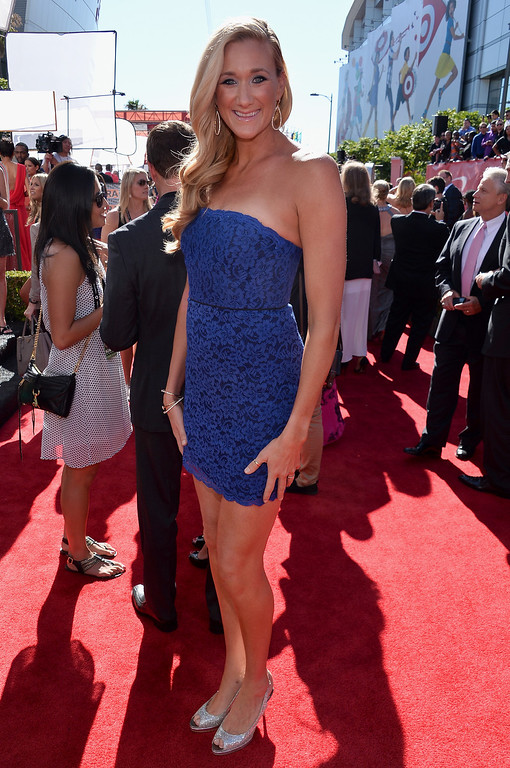 . Beach volleyball player Kerri Walsh Jennings attends The 2013 ESPY Awards at Nokia Theatre L.A. Live on July 17, 2013 in Los Angeles, California.  (Photo by Alberto E. Rodriguez/Getty Images for ESPY)