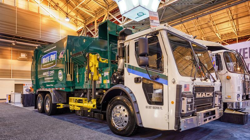 Waste Pro Mack LR Bridgeport Ranger Automated Side Loader