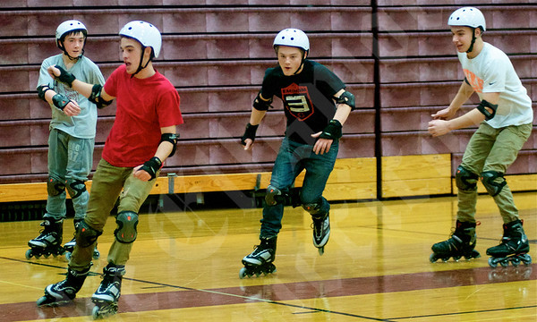 Rollerblading at Ellsworth High School