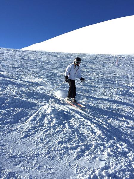 Lucia skiing Furggsattel