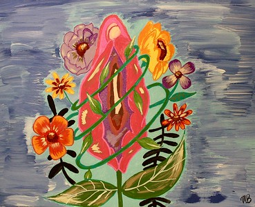 """Floral"" (acrylic) by Mel Bufalo"