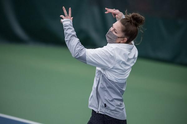 ISU Tennis vs South Dakota 01/22/21