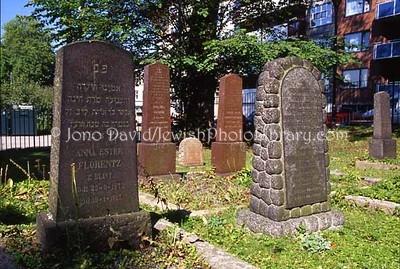 NORWAY, Oslo. Sofienbergparken Jewish Cemetery (2006)