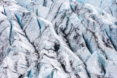 Detail of Svínafellsjökull Glacier, Iceland