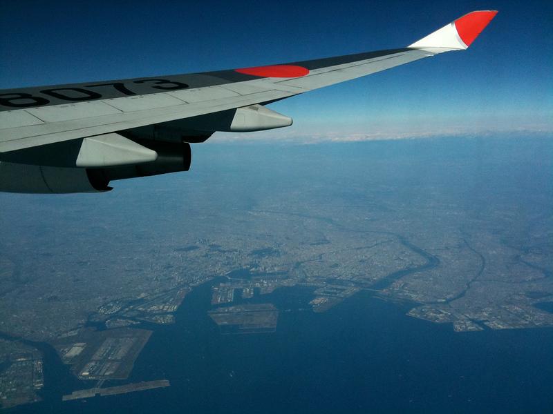 Flying above Tokyo