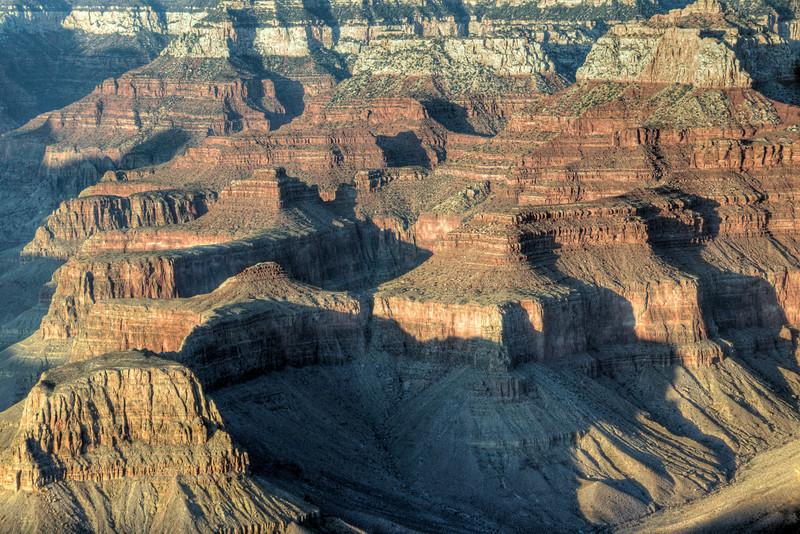 The canyons at Grand Canyon National Park in Arizona, USA