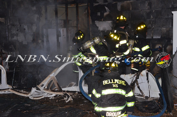 Bellmore F.D. House Fire 2685 Rachel St 1-1-14