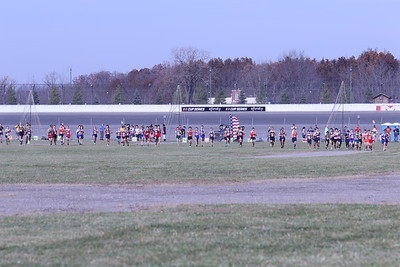 D4 Boys' at 400M Section 1 - 2020 MHSAA LP XC