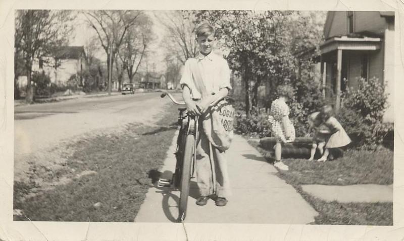 Cecil Dodrill, newspaper boy abt 1937