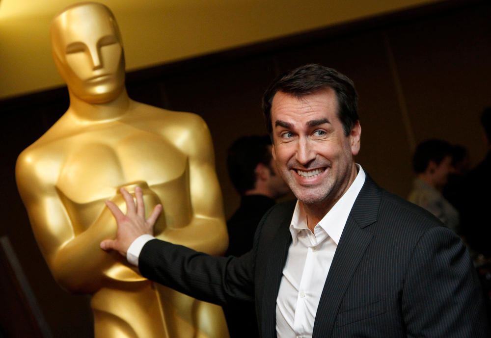 Description of . Comedian Rob Riggle arrives at Oscar Celebrates: Animated Features, featuring this year's Oscar-nominated Animated Feature Films category at the Academy of Motion Picture Arts and Sciences in Beverly Hills, California, February 21, 2013. REUTERS/Jonathan Alcorn