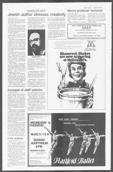 Daily Trojan, Vol. 76, No. 17, March 06, 1979