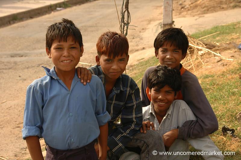 Friendly Kids in Chandigarh, India