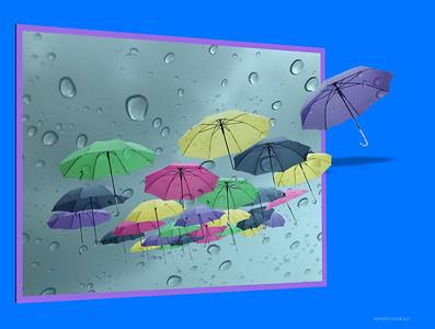 DIGITAL CREATIVE -  Raining UmbrellasRobert MillerMa14gold