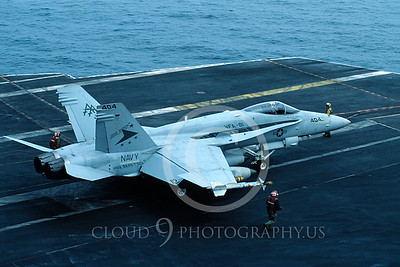 US Navy McDonnell Douglas F-18 Hornet Airplane Aircraft Carrier Scene Pictures