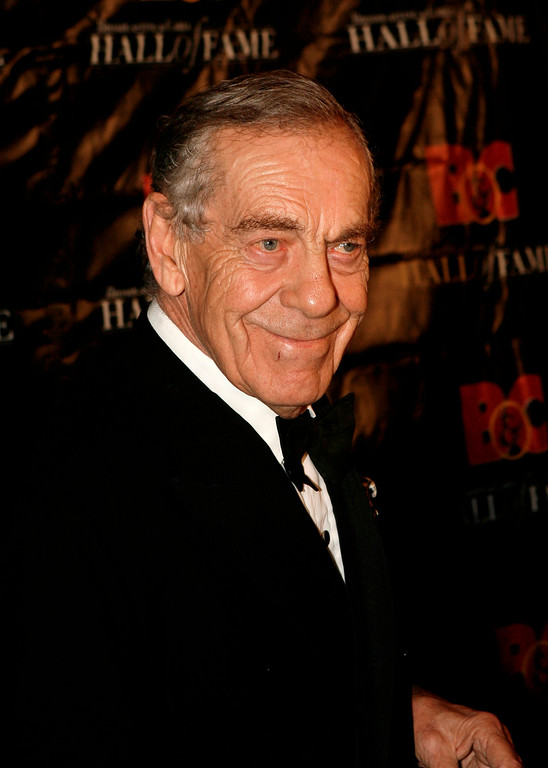 . FILE - In this Oct. 21, 2008 file photo,  Morley Safer poses for a picture during the Broadcasting and Cable Hall of Fame Awards in New York. (AP Photo/Seth Wenig)