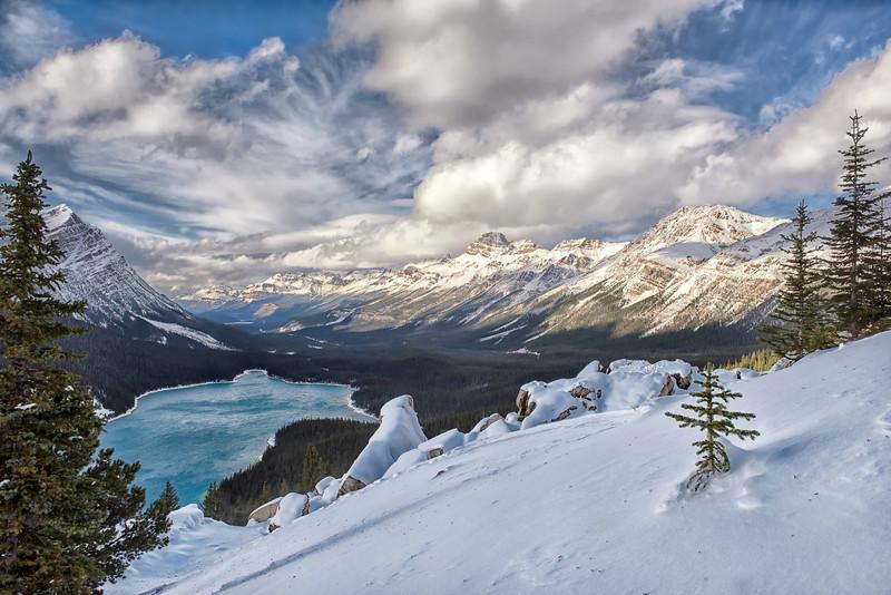 Snowy Peyto Lake