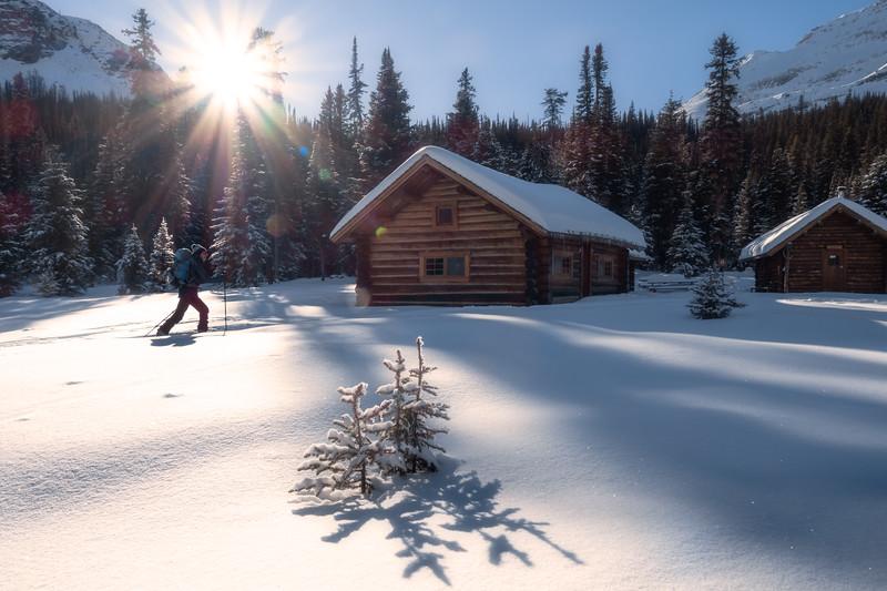 Skiing Lake O'Hara