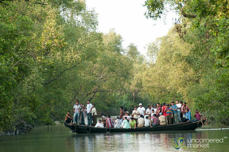 Passenger Boat in Canal - Sundarbans, Bangladesh