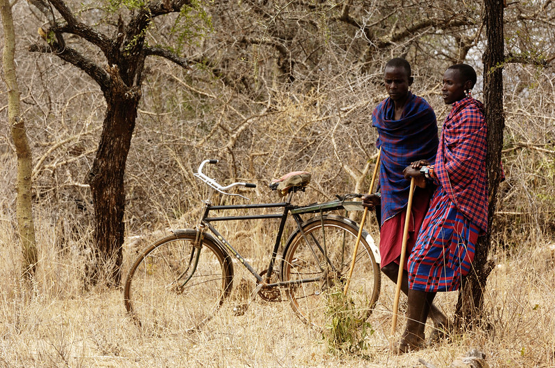 "MASAI TRIBE ON THE BORDER OF KENYA AND TANZANIA. COMMUNITY PREPARES FOR VISITORS FROM THE UNITED STATES. MEN SLAUGHTER GOATS, WHILE THE WOMEN PREPARE CABBAGE AND RICE. THEY ARE CELEBRATING THE RECEIVING OF FUNDS  FROM THE ORGANIZATION ""SAVE AFRICA'S CHILDREN"" TO BUILD A SCHOOL. VALERIE GOODLOE"