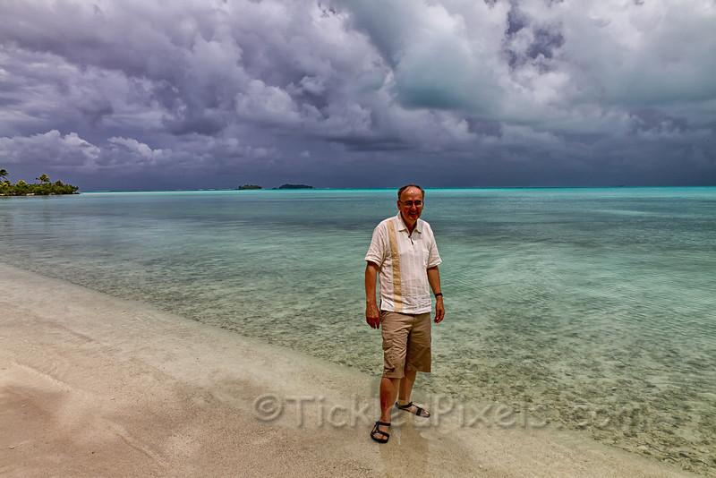 On Akaiami Island, Aitutaki Lagoon, Cook Islands