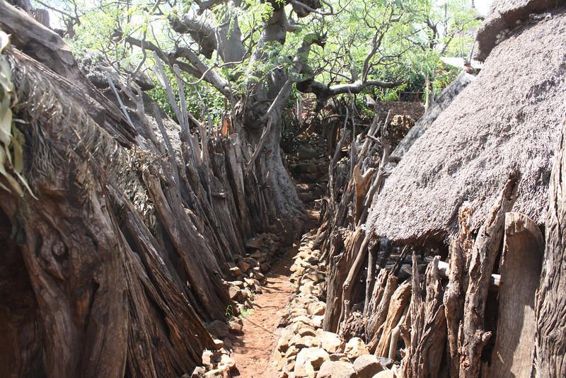 Konso village path
