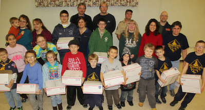 Tamaqua Cub, Boy Scouts Make Care Packages, St. John's Church, Tamaqua (11-23-2013)