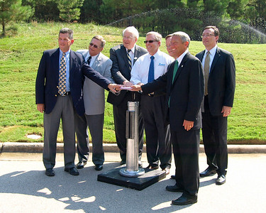Cary Water Reclamation Ribbon Cutting July, 2012