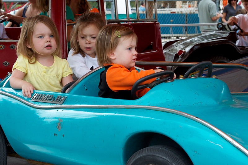 Anna decided she could handle the ride by herself the second time