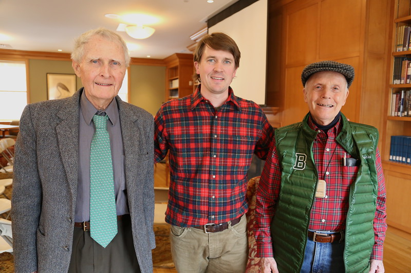 Bruce Shields '57 & Malcolm Odell '57 with Donald Anselmi.JPG