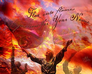 Flag into Flames-24x30.jpg