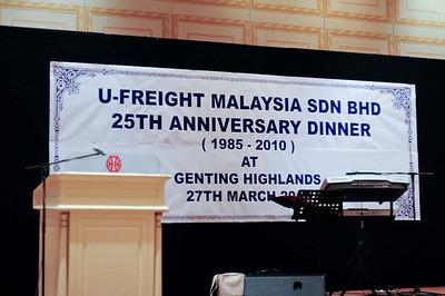 20100328 U-Freight 25th Anniversary Dinner