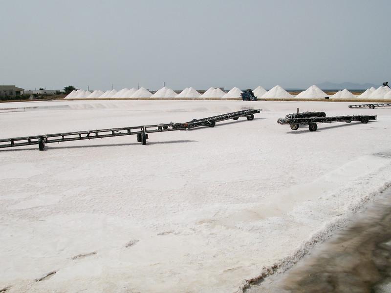 Salt being harvested