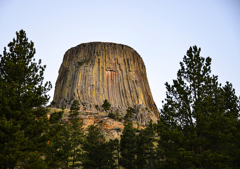 Devils Tower view on the drive up to the base.