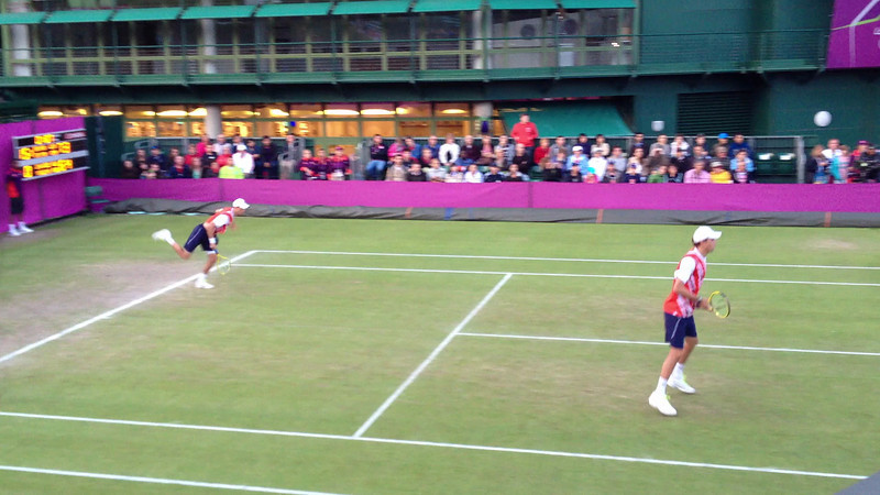 Bryan brothers on an outer court