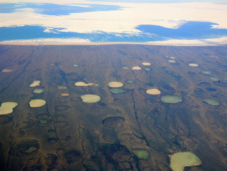 THERMAFROST THAW PONDS HUDSON BAY