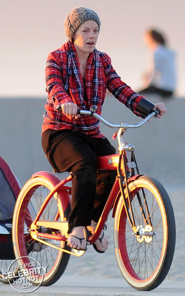 EXC: P!NK and Husband Carey Hart's Sunset Bike Ride