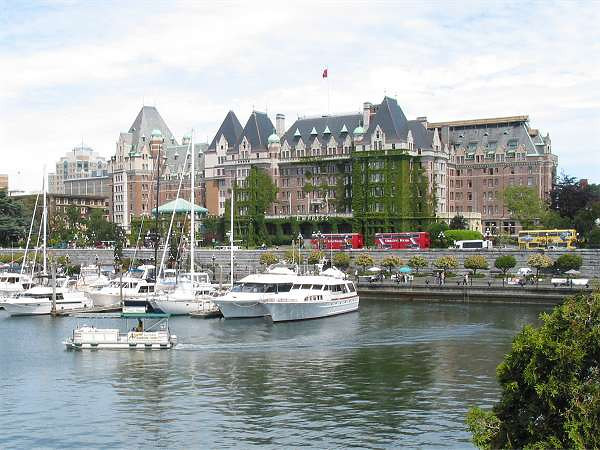 Royal Victoria Marathon Landmarks - 1999 Course - Empress Hotel - on your right immediately after the start