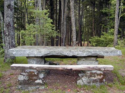 Stone Picnic Table Balsam Mtn Road  GSMNP NC  6/17/07