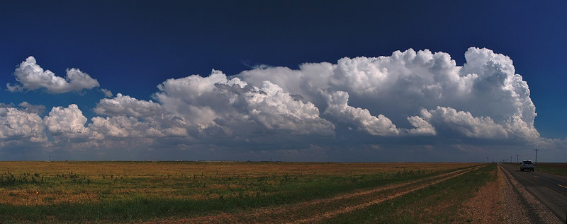 Lovely Olympus Blues panoramic sky from Storm chase in 2007. Oly E3, 14-54mm.