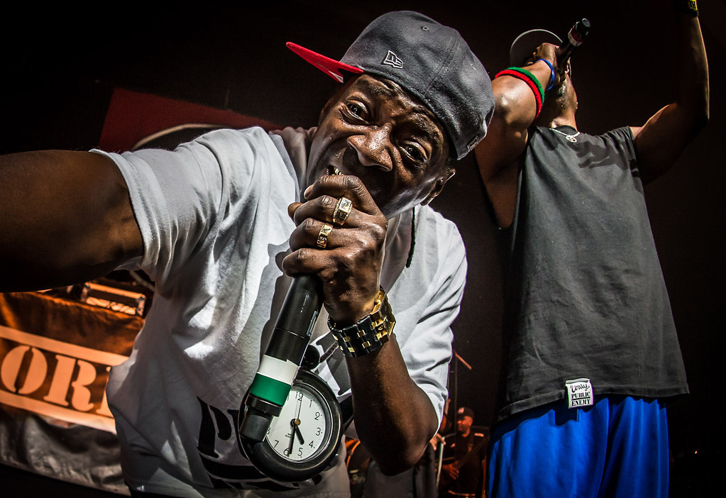 Public Enemy performs on the Kings of Mic tour stop in Cincinnati, Ohio at Riverbend Music Center