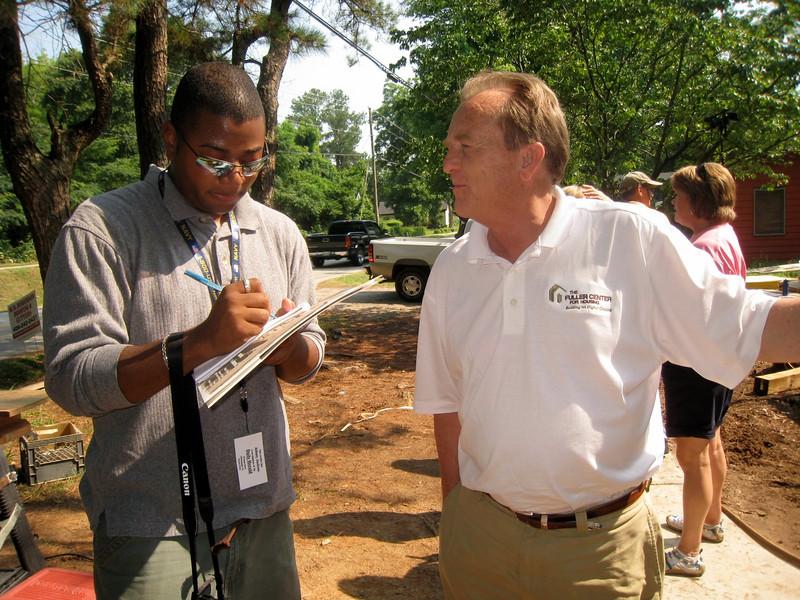 Johnny Jackson of Henry Herald newspaper interviews David Snell.  ky