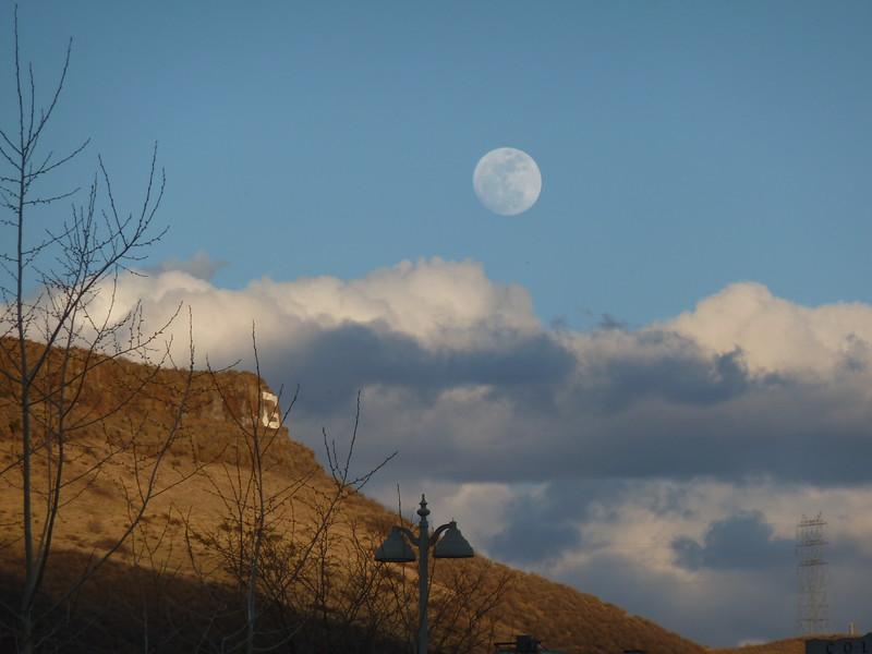 Full moon over Golden