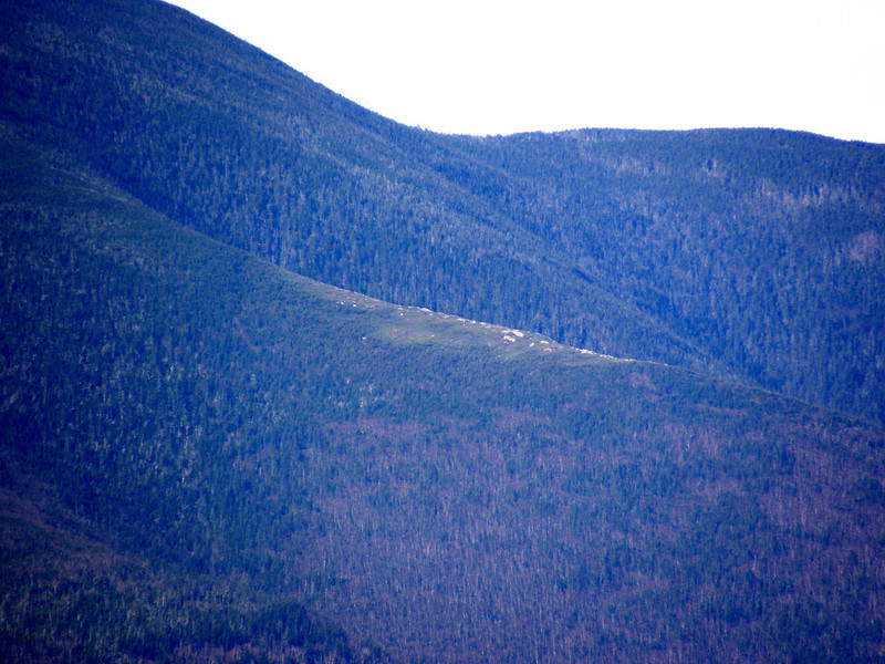 The bald spot on the Bond ridge that can be seen from the Guyot Shelter