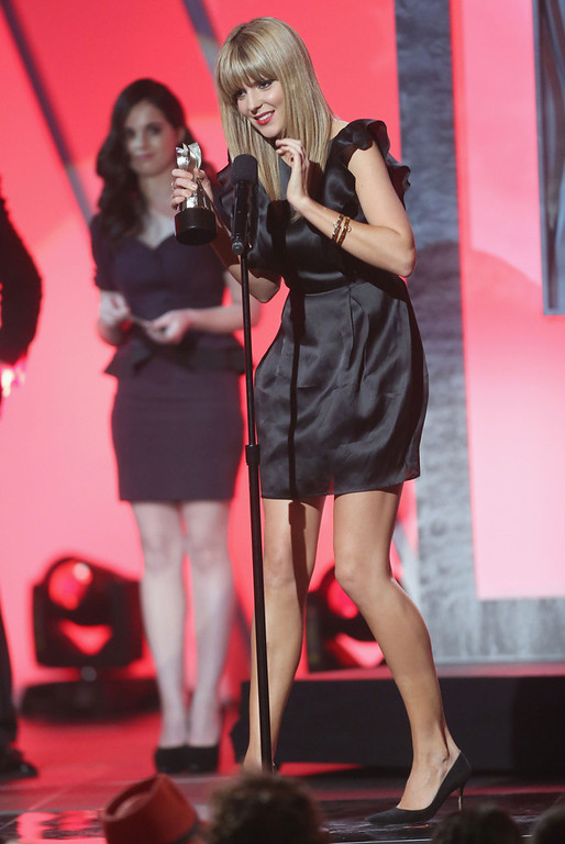 . Internet personality Grace Helbig accepts the Best Comedy Actress award onstage at the 3rd Annual Streamy Awards at Hollywood Palladium on February 17, 2013 in Hollywood, California.  (Photo by Frederick M. Brown/Getty Images)
